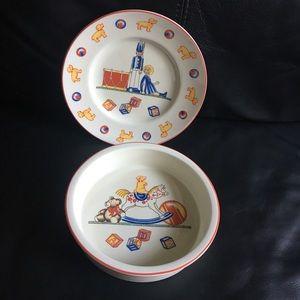 Tiffany & Co. children's plate & bowl set